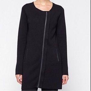 Eileen Fisher Leather trim coat/jacket